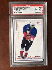 2003-04 Russian Hockey League Mirovoi sport Word Sport Eugeni Malkin RC PSA 8.5