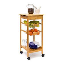 Küchenrollwagen JAMES S Servierwagen Küchenwagen Rollwagen Beistellwagen Bambus