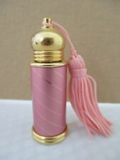 Decorative Pink and Goltone Purse Perfume Bottle with Tassel