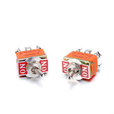 Pack of 10 Miniature Toggle Switch AC 250V 15A 6 Pin DPDT On-On Dual Position