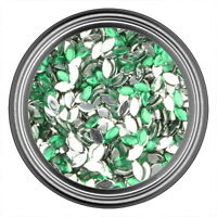 Green Oval Rhinestone Gems Flat Back Face Art Nail Art Scrapbook Phone 3mm