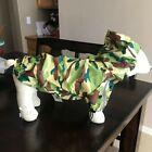 NWT Dogo Army Camo Raincoat for Dogs - Size XL