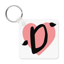 Letter D Heart Alphabet Keyring Key Chain - Valentines Day Love Girlfriend