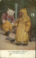 Fantasy Roosevelt Bears Niagara Falls c1905 Postcard
