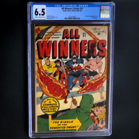 ALL WINNERS COMICS #21 (1946-47) 💥 CGC 6.5 💥 RARE LAST ISSUE! Timely Comics