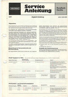 Grundig Service Anleitung Manual sono-clock 550  B1038