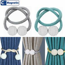 2Pcs Magnetic Curtain Tiebacks Tie Backs Buckle Clips Holdbacks Ball for Curtain
