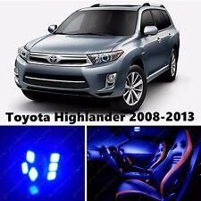 14pcs LED Blue Light Interior Package Kit for Toyota Highlander 2008-2013