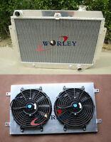Aluminum Radiator+Shroud+Fan for Holden HG HT HK HQ HJ HX HZ V8 Chevy engine AT