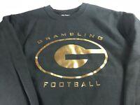 Grambling Football Sweatshirt Adult Small Black Gold Student Alumni Graduate