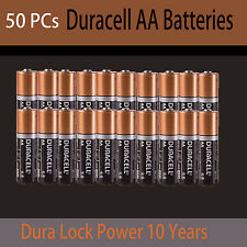 50X Genuine  Duracell AA Batteries Alkaline 1.5V Dura Lock Power 10 Year battery