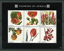 Liberia 2013 MNH Flowers of Africa 6v M/S Poppy Tulips Gladiolus Liparia Stamps