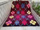 Vintage Moroccan HANDMADE Beni ourain Wool Rug Berber Azilal Floral Carpet