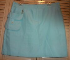Womens IZOD XFG Golf Skort Skirt Shorts Aqua sz 10 Pro Series w/ Removable Pouch
