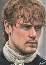 ACEO 1/1 Original Outlander JAMIE FRASER Sam Heughan Sketchcard Portrait COA