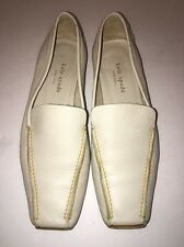Kate Spade Loafers Cream Pebbled Leather, 7 B