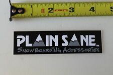 Plain Sane Snowboard Accessories Mountain Ski Vintage Snowboarding Sticker