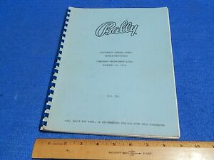 1976 Bally Electronic Pinball Games Repair Procedures Component ReplacementFO513