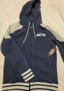 Seattle Seahawks NFL Football Team Apparel Jacket Full Zip Hoodie Men's M NWT !