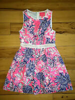Womens Lilly Pulitzer Alivia Dress Pink Tropics Size 8 New NWT $198 Colorful