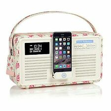 VQ Retro MKII Rose & Bee Emma Bridgewater iPhone Dock DAB Radio With Bluetooth