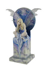 Shimmer by Selina Fenech Blue Sky Fairy Perched On Marble Thrown Statue
