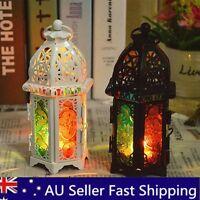 AU Vintage Hanging Candle Holder Candlestick Lantern Tea Light Stand Home Decor