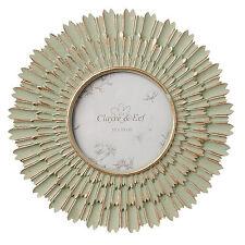 Clayre & Eef wunderschöner Bilderrahmen wie eine SONNE grün-gold