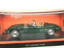 1/18 - 1971 JAGUAR E TYPE V12 CABRIOLET GREEN - NEW - SEALED -  ROAD SIGNATURE