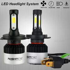 NIGHTEYE H4 HB2 9003 LED Headlight Dual Hi/Lo Kit 3-Sided Bulbs 9000LM 6500K 2pc