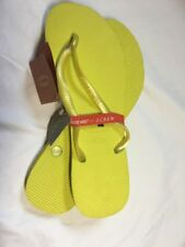 JCrew Womens Havaianas® slim Flip-lops shoes Neon Yellow Size 7/8