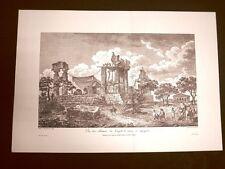 Veduta delle rovine del Tempio di Giunone Agrigento Sicilia Litografia Saint-Non