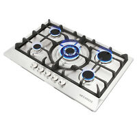 29.84 inch Stainless Steel 5 Burner Built-In Stoves NG LPG Gas Cooktop Cooker