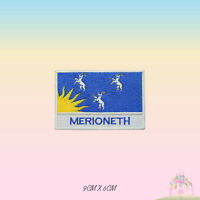 MERIONETH UK County Flag With Name Embroidered Iron On Patch Sew On Badge