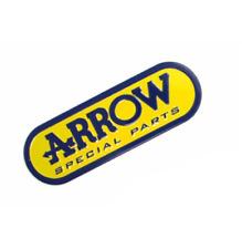 ADESIVO ARROW ALLUMINIO STICKER 3D ALTE TEMPERATURE SCARICO EXHAUST PICCOLO BLU 9,5cm x 3,1cm