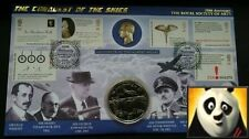 1997 Liberia attacco a le dighe del RURH $1 DOLLARO MONETA SECONDA GUERRA MONDIALE COVER + COA