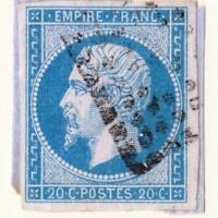 EMPIRE N°14 A VARIÉTÉ  ( Bleu clair ) oblitéré  sans défauts !   CV :  €