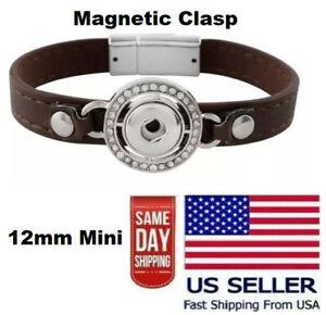 Mini Snap Jewelry Rhinestone Bracelet Magnetic Clasp Fits 12mm Petite Ginger NEW