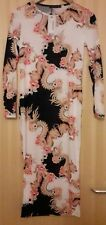 STUNNING FLORAL PATTERN MATERNITY DRESS BNWT SIZE 10 WEDDING PARTY BODY CON