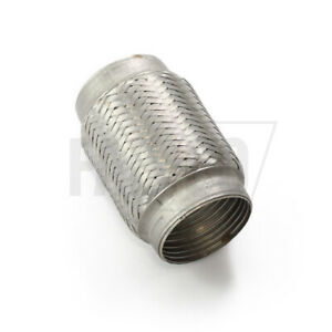 """44MM - 90MM 4"""" 6"""" 8"""" Long Flexi Exhaust T304 Stainless Steel 2"""" 2.5"""" 3"""" 3.5"""""""