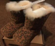 BNIB New Ugg Australia Cassie Leopard Brown Baby Boots - Size 2/3 Age 6-12 Month