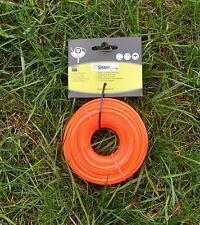 Mähfaden Profi Schneidfaden orange 3 mm 15m viereckig Nylonfaden Ersatzfaden NEU
