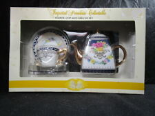 Imperial Porcelain Miniature Tea Pot, Cup and Saucer Set In Box