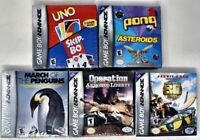 Nintendo Game Boy Advance Lot 5 Factory Sealed Video Games GBA Brand New