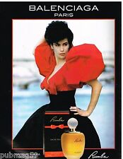 Publicité Advertising 1989 Eau de Toilette Rumba par Balenciaga