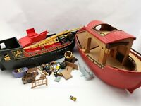 Playmobil bundle spares Pirate Ship & Noahs Ark incomplete