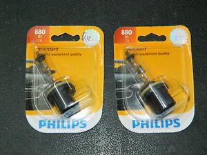 (2) NEW PHILIPS STANDARD 880 HEADLIGHT BULBS 12.8V 27W 880B1 HEADLAMP BULB