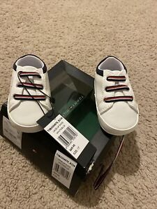 Baby Boys Tommy Hilfiger Lace Up Shoe Size 17 Blue And White