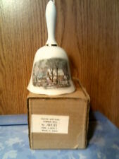 Vtg 1978 Avon Currier & Ives Porcelain Dinner Bell Awarded To Reps- New In Box-