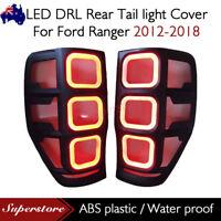 LED DRL Rear Tail light Cover For Ford Ranger 2012-2018